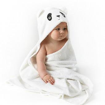 """Frotė rankšluostis su gobtuvu """"Panda"""""""